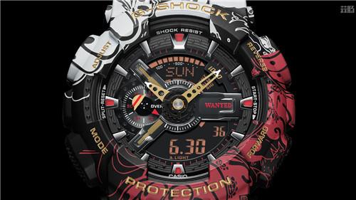 卡西欧G Shock联动《海贼王》推出路飞主题GA 110腕表 GA 110 路飞 海贼王 G Shock 卡西欧 动漫  第4张