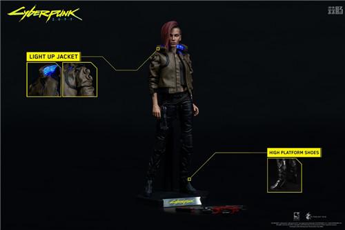 豆鱼雷推出《赛博朋克2077》男女主角V1/6可动手办附带酷炫摩托 模玩 第4张