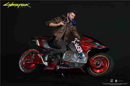 豆鱼雷推出《赛博朋克2077》男女主角V1/6可动手办附带酷炫摩托