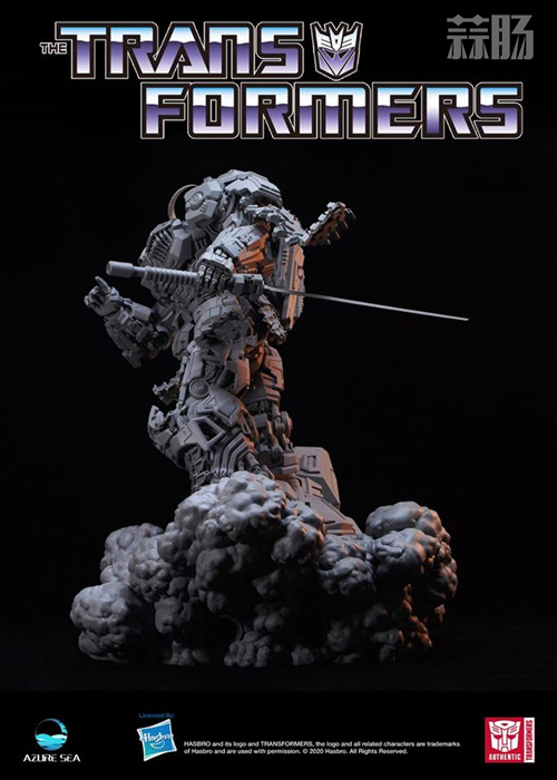 Azure Sea Studio推出《变形金刚:隐者战士》雾隐暗丈大型雕像 模玩 第6张