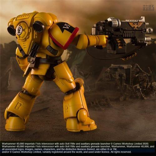 万代推出《战锤40K》帝国之拳星际战士可动手办 可动手办 星际战士 帝国之拳 战锤40K 万代 模玩  第6张