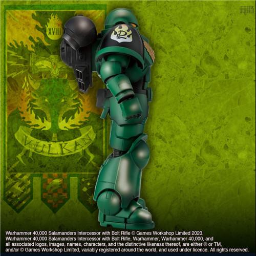 万代推出《战锤40K》火蜥蜴战团星际战士可动手办 模玩 第5张
