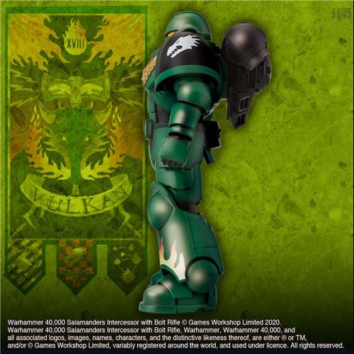 万代推出《战锤40K》火蜥蜴战团星际战士可动手办 模玩 第4张