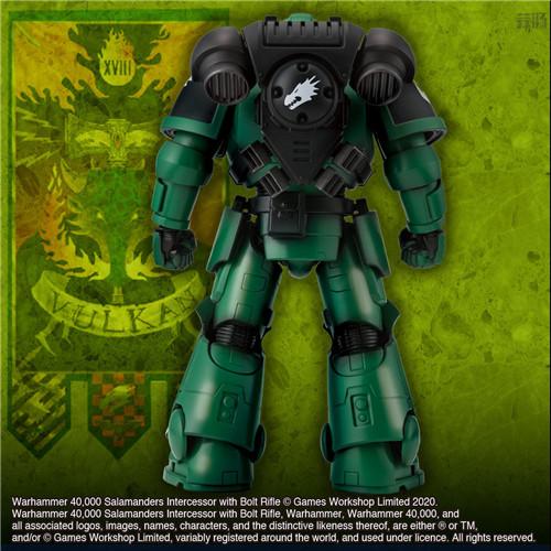 万代推出《战锤40K》火蜥蜴战团星际战士可动手办 模玩 第3张