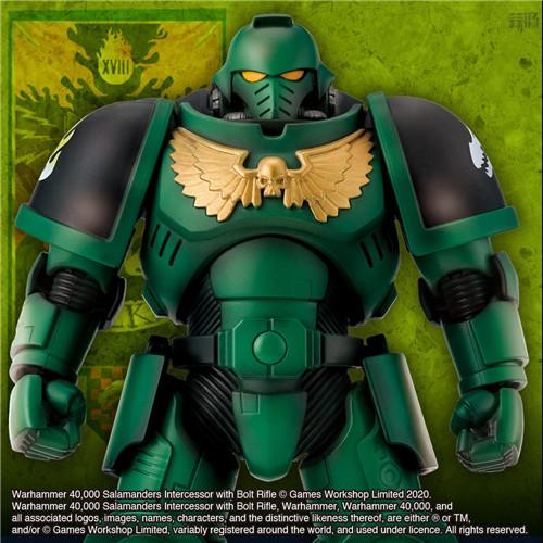 万代推出《战锤40K》火蜥蜴战团星际战士可动手办 模玩 第2张