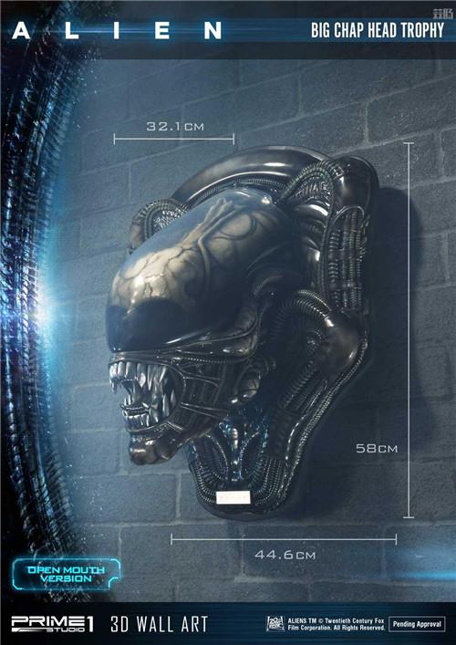 P1S推出《异形》工蜂异形壁挂头雕 全球限量100 模玩 第3张