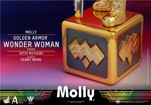 Hot Toys 与 Kennyswork 联动推出Molly伪黄金装甲神奇女侠版 Molly 泡泡玛特 KENNYSWORK HT Hot Toys 模玩  第4张