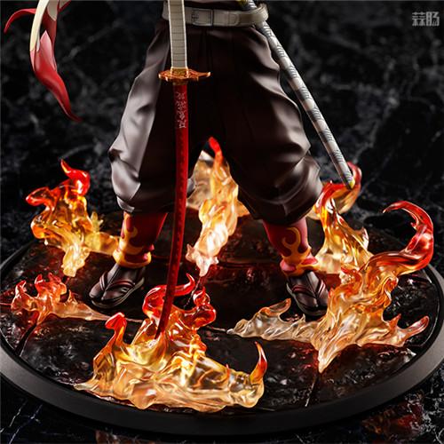 ANIPLEX推出《鬼灭之刃:无线列车篇》炼狱杏寿郎1/8手办 模玩 第6张