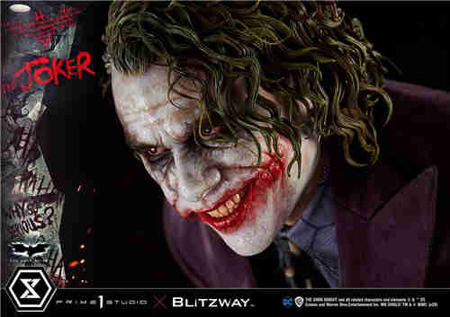 P1S联动Blitzway推出《蝙蝠侠:黑暗骑士》小丑1/3全身雕像Bonus版