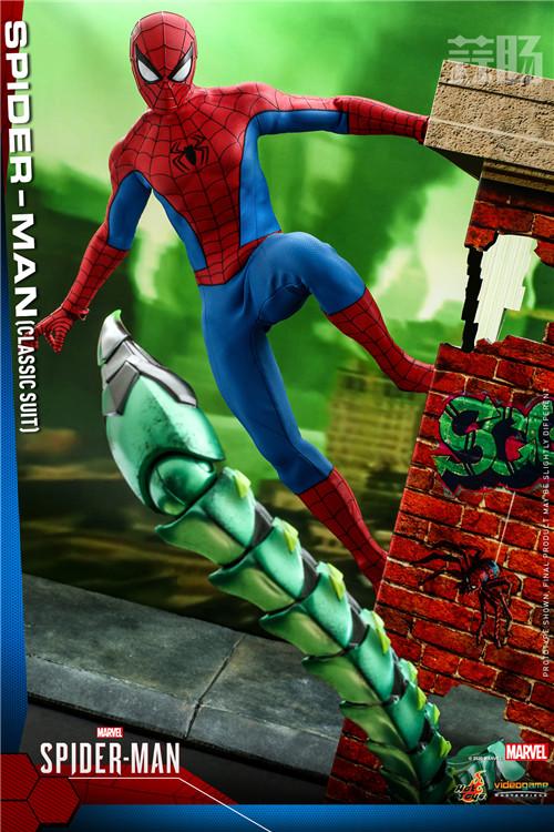 Hot Toys推出《漫威蜘蛛侠》蜘蛛侠 (经典战衣) 1:6比例珍藏人偶 蜘蛛侠 PS4 漫威蜘蛛侠 HT Hot Toys 模玩  第1张