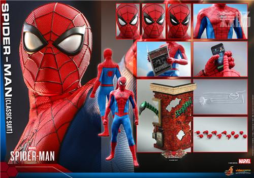 Hot Toys推出《漫威蜘蛛侠》蜘蛛侠 (经典战衣) 1:6比例珍藏人偶 蜘蛛侠 PS4 漫威蜘蛛侠 HT Hot Toys 模玩  第9张
