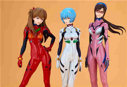 海洋堂推出EVA GIRLS明日香 真希波与明日香三款手办