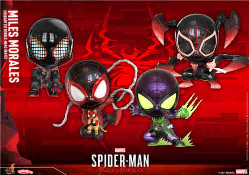 Hot Toys推出第二弹《漫威蜘蛛侠:迈尔斯》COSBABY迷你人偶