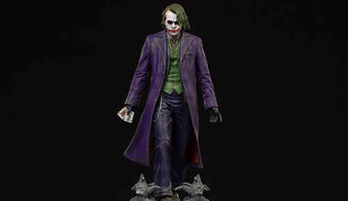 Iron Studios:1/10《蝙蝠侠:黑暗骑士》- The Joker 小丑 雕像